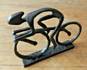 Cast iron Racing Cyclist Bike Ornament Figurine Trophy UK seller