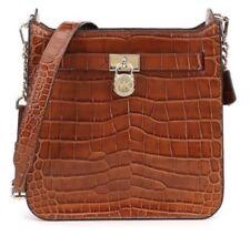 Michael KorsStudio Medium Embossed Messenger Bag Gold Tone Hardware Walnut $298