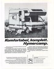 ERIBA - HYMERCAMP  -  Reklame - alte Annonce -  vintage  advert - Werbung -