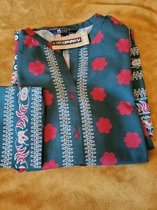 Nishat Linen Khaddar Kurta Shirt Like Khaadi Limelight Sapphire Sana Safinaz