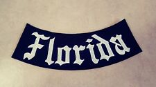 Florida Bottom Rocker Patch, Black & White Harley, Outlaws MC, Support 15, 1%er