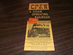 1960's CARROLL PARK & WESTERN RAILROAD TIMETABLE AND BROCHURE