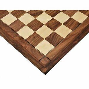 "23"" Big Chess Board Rosewood & Maple - Matt Finish Tournament - Sq.60mm Drueke"