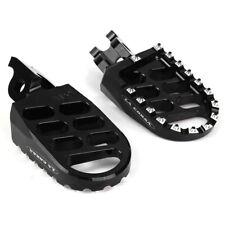 New Black Footpegs Husqvarna TE TC WR CR 125 250 300 450 500 Foot Peg 2008-2012