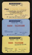 1951 NEW YORK GIANTS FOOTBALL PRESS PASSES (2) & 1952 vs WASHINGTON REDSKINS (1)