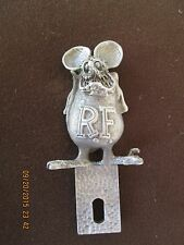 "rat fink, ed roth, license plate topper 4"" high"
