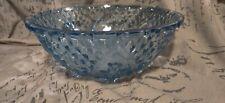 Vintage Blue Glass Decorative Bowl