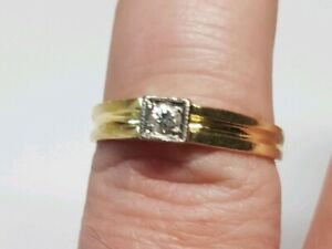 Gold Ring 585er Brilliant 0,1ct Top Look