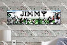 Personalized/Customized New York Jets Name Poster Wall Art Decoration Banner