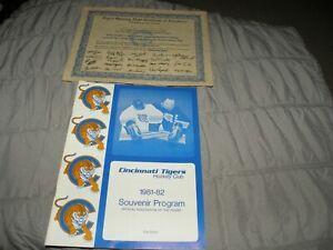Vintage Cincinnati Tigers CHL Hockey 1981-82 Official Program + Opening Night