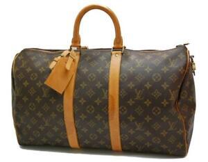 Authentic LOUIS VUITTON  MONOGRAM  KEEPALL 45 DUFFLE BAG SA834 0623a