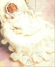 *Baby's Round Afghan & Bonnet Set crochet PATTERN INSTRUCTIONS
