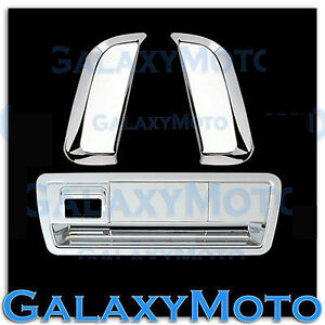 Chrome Rear Vertical Door Handle+Tailgate w/Camera Cover for 04-14 Nissan Armada