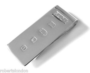 ROBERTS & CO NEW HALLMARKED STERLING SILVER MONEY CLIP MADE IN LONDON ENGLAND