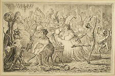 old engraving by James Gillray 'Dilettanti Theatricals'  pub. 1803 by H.Humphrey