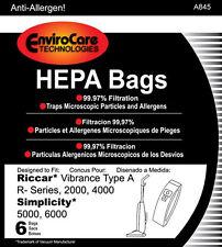 6 Carpet Pro HEPA Filtration High Efficiency Vac Bags