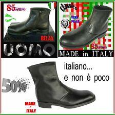 STIVALI UOMO stivaletti SCARPE CLASSICHE vitello , - 50%  MADE IN ITALY 39 a 45