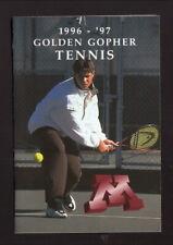 Minnesota Golden Gophers--1996-97 Tennis Pocket Schedule--Wallace Carlson