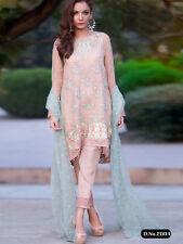 Punjabi Churidar Bollywood Designer Indian Embroidery Salwar Kameez Shalwar Suit