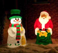 LARGE OUTDOOR GARDEN PATH MAINS PLUG 3D FIGURE BLOW MOULD CHRISTMAS LED LIGHTS