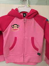 PAUL FRANK Pink Full Front Zipper Fleece Hoodie Girls Sz 4 MSRP $44 New