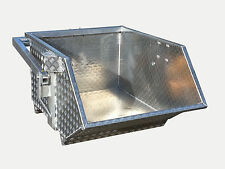 Schuttmulde AS1000 - 0,75m³-Aluminium  Krankübel Schuttkübel Kippmulde Kranmulde