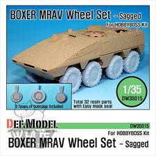 DEF Model 1:35 GTK Boxer MRAV Sagged Wheel Set (For Hobbyboss) DW35015*