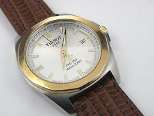 Gents TISSOT PRC100 Champagne Sapphire Dial & Leather Strap - 100m