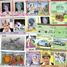 NEVIS collections de 25 à 100 timbres différents