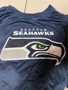 Seattle Seahawks Men's NFL Majestic Blue Poly T-Shirt Big & Tall 5XL Read