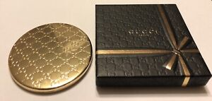 Gucci Beauty Round Double Mirrored Compact Brand New In Box With Dust Cover