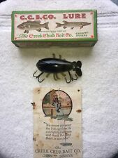 Creek Chub Baby Crawdad #400 Wood Fishing Lure, Correct Box , Catalog !
