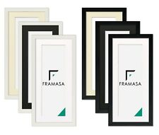 Panoramic Black Picture Frames White Photo Frames With White Ivory Black Mounts