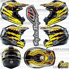 Troy Lee Designs 2016 SE3 Medium MD Helmet Flight Black Yellow Motocross Enduro