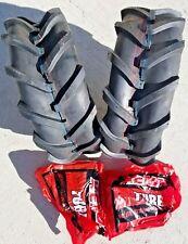 2 - 16X6.50-8 6P Deestone Super Lug Tires AND Tubes AG 16x6.5-8 FREE SHIPPING