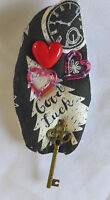 Handmade Brooch Pin Fabric Red Heart One Of A Kind Embelishment Gift From Artist
