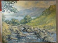 LARGE OIL PAINTING LANDSCAPE LAKE DISTRICT  LISTED ARTIST PHYLLIS MORGANS SIGNED