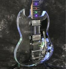 Starshine SG LED Light  Electric Guitar Acrylic Body Crystal Guitar Bigsby Bridg