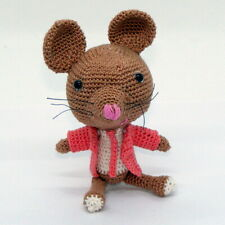 """3.5"""" Vito T. Mouse, Well Dressed, Educated, Articulate, Crochet, Mouse w/Stand"""