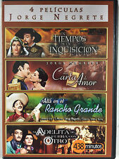 Jorge Negrete, 4 Movies, Cuatros Peliculas, DVD, 2 Discs, New, Factory Sealed