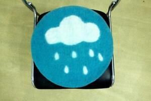 42 CM Felt Chair Pad - Handmade Round Chair pad - Blue Chair Pad - Seat Cushion