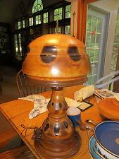 '20-'30s RARE Arts Crafts Monkey Puzzle Tree Lamp Original Sadila Double Socket