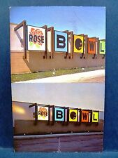 Postcard IL St Louis Rose Bowl Bowling Alley Ad for Levy Sign Company