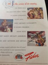 N1-6 Ephemera 1940s Ww2 Advert The Fisher Body Organization Tanks Planes