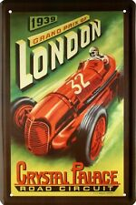 London Grand Prix 1939 Car Auto 20x30 cm Blechschild 1599