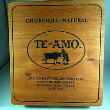 Te-Amo Tobacco Wooden Cigar Box Toro Maduro San Andres Valley  Fathers Day Gift