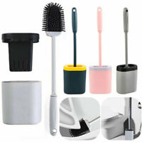Toilettenbürste+Basis Halter Antibakterielle Klobürste WC Bürste Brush Halter