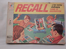 1968 Milton Bradley Recall Game of Observation 100% Complete