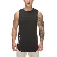 Men Bodybuilding Tank Tops sleeveless Shirt Gyms Fitness Singlet vest Undershirt