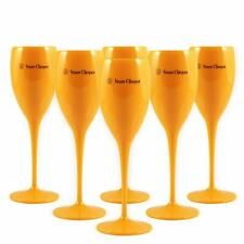 Veuve Clicquot Yellow Label Acrylic Champagne Glasses Orange x 6 New